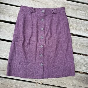 UK Style French Connection Plum Skirt Size 10